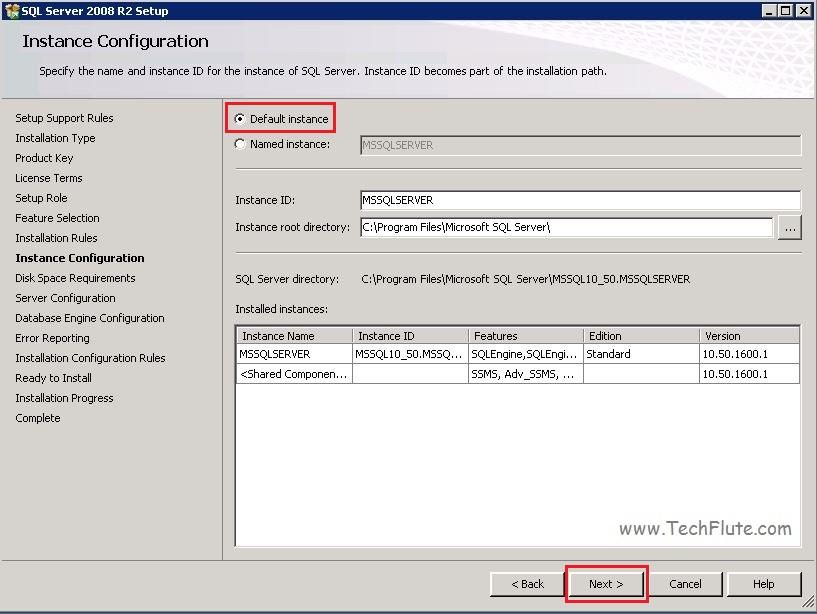 SQL 2008 Default Instance