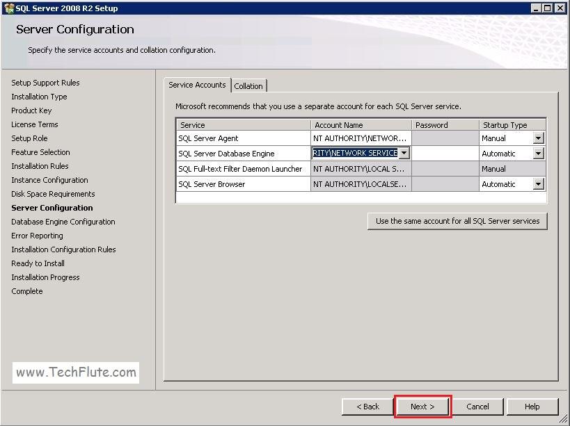 SQL Server Services