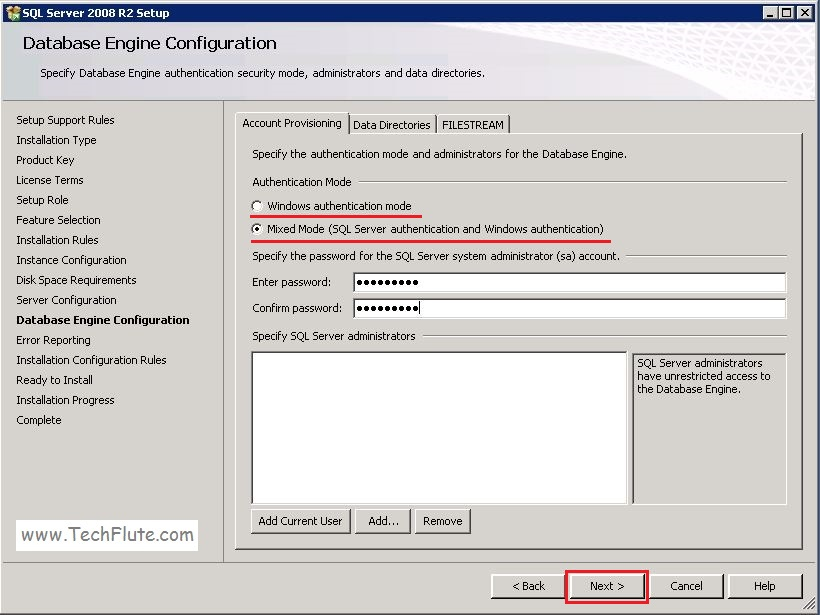 SQL Server 2008 Mode
