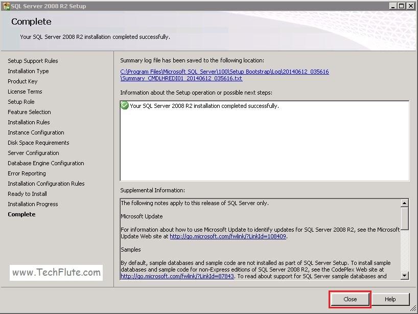 Complete Installation of SQL Server 2008