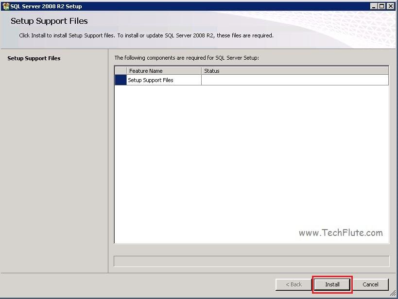 Install SQL Server 2008