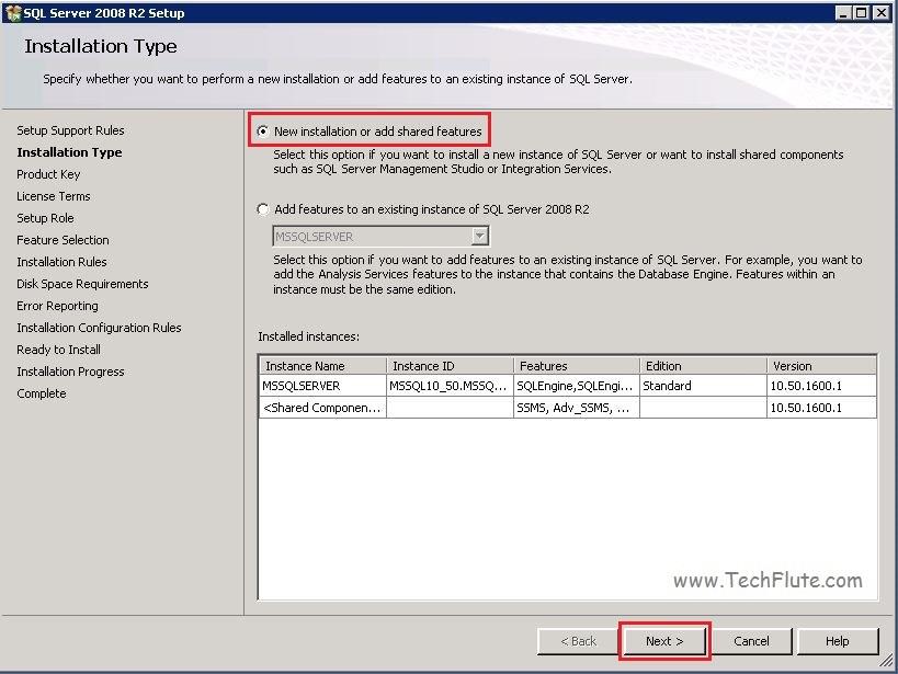 SQL Installation