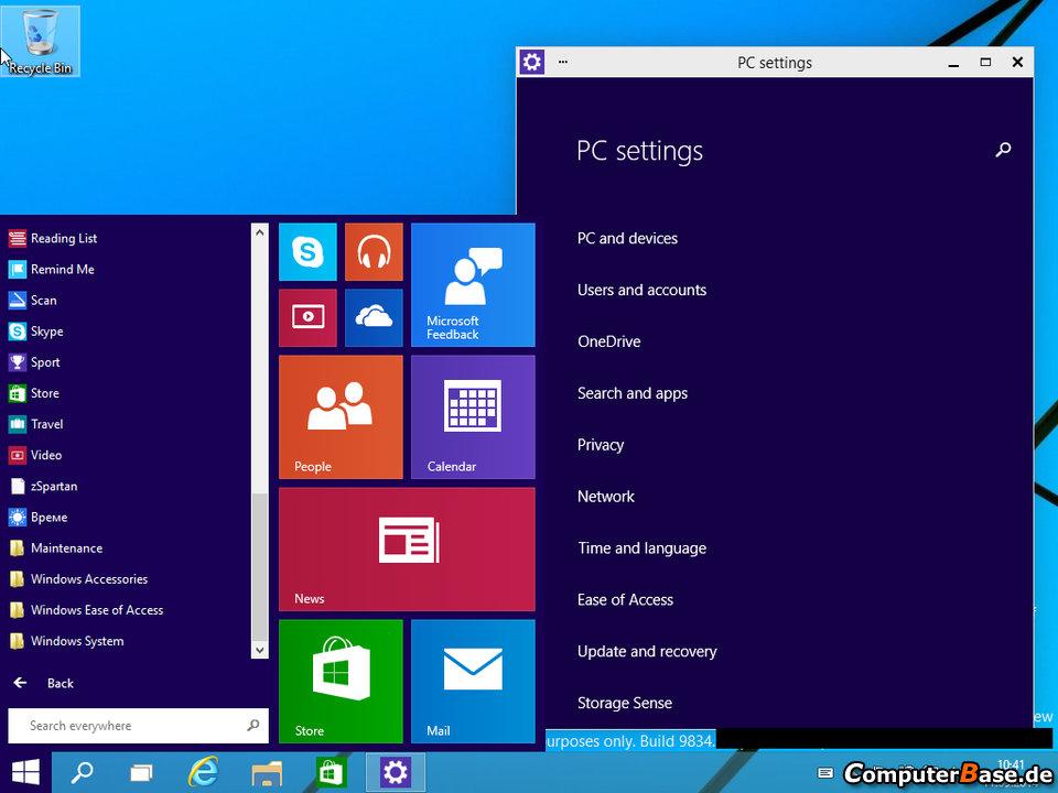 Windows 9 PC Settings
