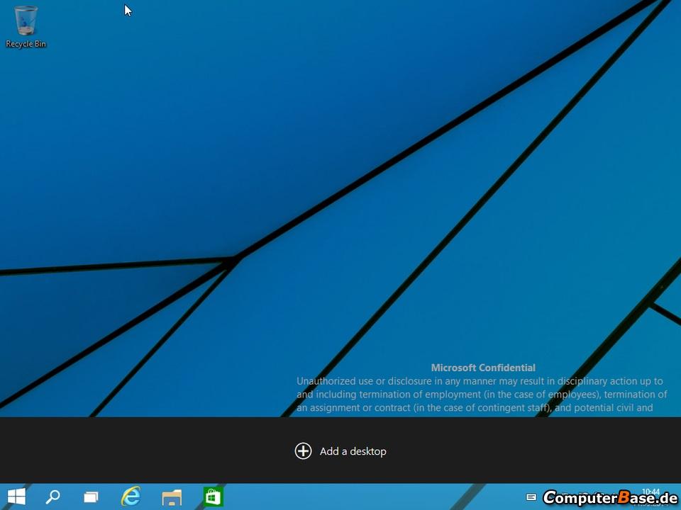 Windows 9 Virtual Desktop