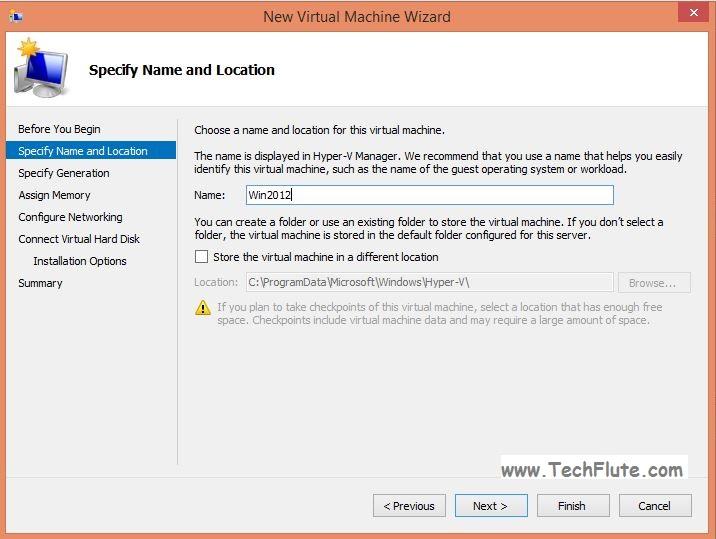 Create Virtual Machine in Windows 8.1