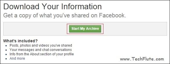 Archive Facebook Data