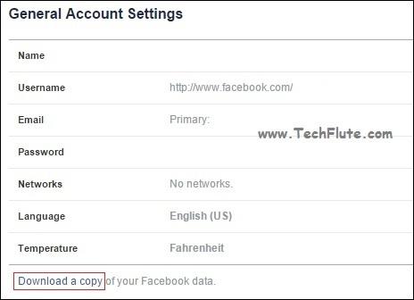 retrieve facebook deleted data