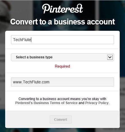 Convert Business Pinterest Account