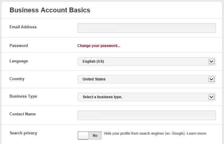 Pinterest Business Account Profile
