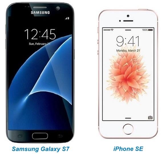 Galaxy S7 vs iPhone SE