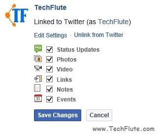 Sync Facebook Profile with Twitter